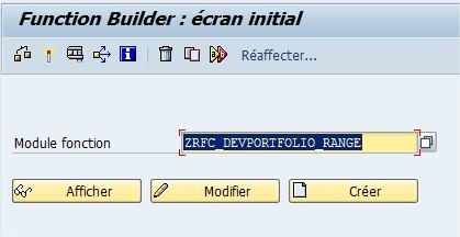 DEV(1)100 Function Builder  écran initial