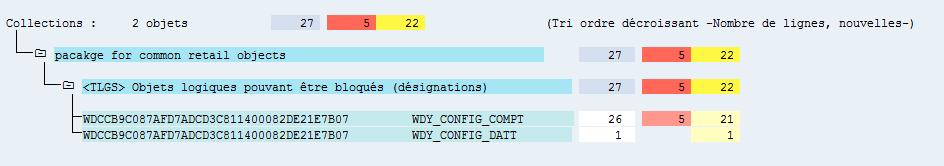 Cc L Lect ions :  2 objets  (Tri ordre décroissant  (dés s)  RDY CONFIG COMPT  RDY CONFIG DATT  —Nomhre de Lignes ,  nouvelles — )  pacakge for cornon retail objecta  Objets Logiques pouvant être bloqués  RDCCB9COE7AFD7ADCD3CE114000E2DE21E7B07  RDCCB9COE7AFD7ADCD3CE114000E2DE21E7B07